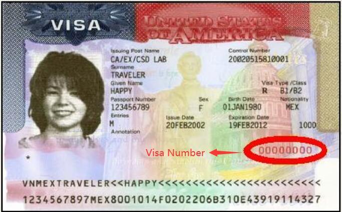 Visa Number Location 1