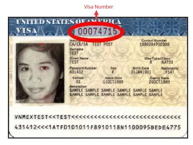 Visa Number Location 2