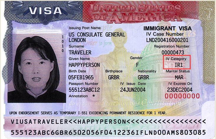 Class of Admission on Immigrant Visa