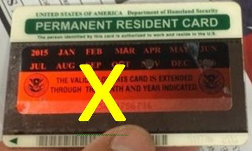 Green Card Extension Sticker No Longer Issued